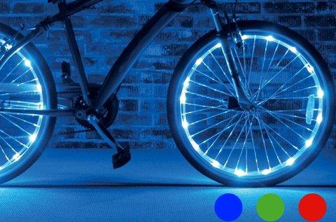 2 db-os BW LED vízálló fénykábel kerékpárra