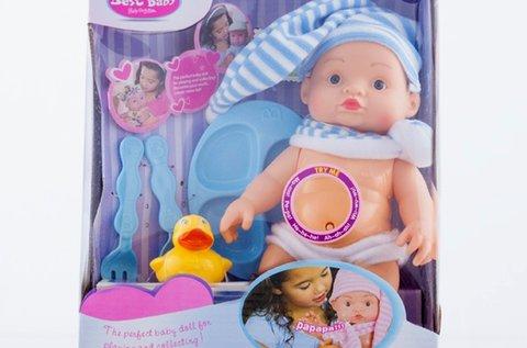 Baby játékbaba hanggal, válaszható színben