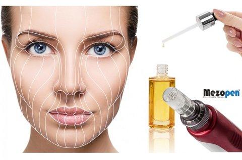 Mezopen kollagén terápia a teljes arcon