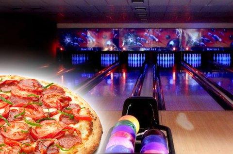 2 óra bowling max. 6 főnek + 1 választható pizza