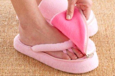Memóriahabos lábápoló papucs otthoni használatra