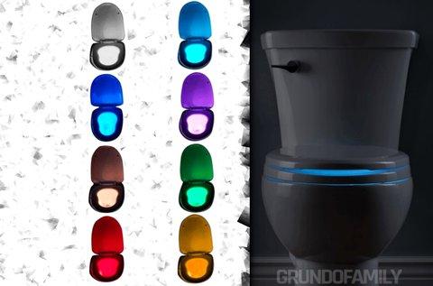 Mozgásérzékelős WC ülőke világítás 8 színben