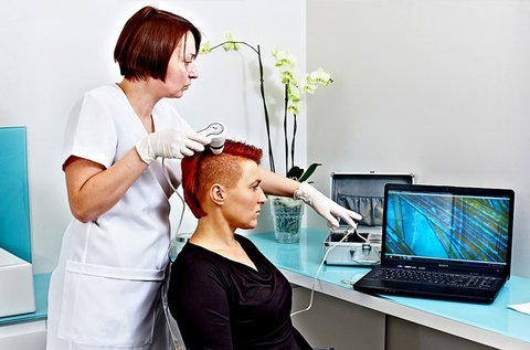 Fejbőr krónikus betegségeinek vizsgálata