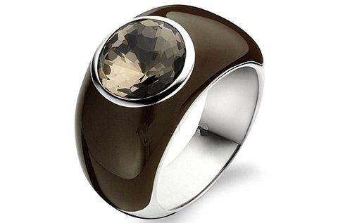 Ti Sento 1843BR női ezüst gyűrű barna színben
