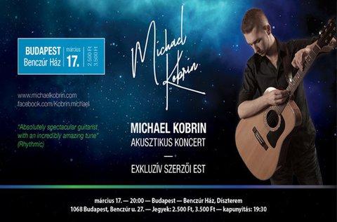 Belépő Michael Kobrin gitáros szerzői estjére