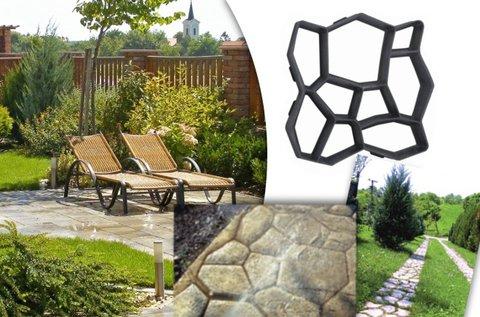 40x40 cm-es beton öntőforma kerti ösvényhez