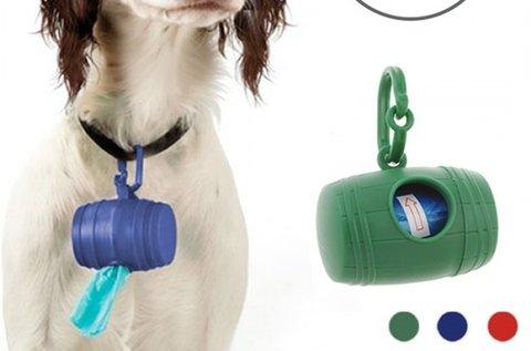Kutya kakizacskó tartó 15 db zacskóval