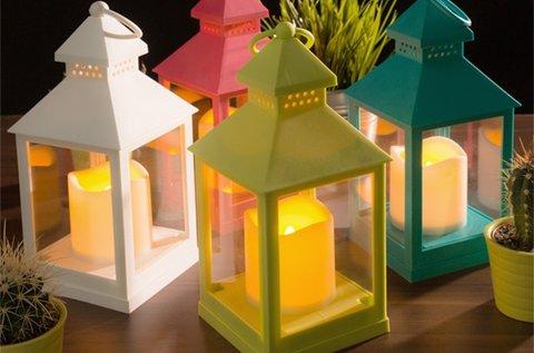 LED lámpás gyertya több színben