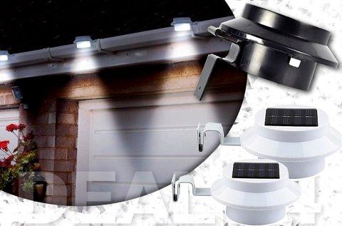 2 db napelemes lámpa fekete vagy fehér színben
