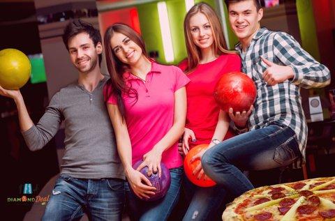2 óra bowling max. 6 főig + 1 választható pizza
