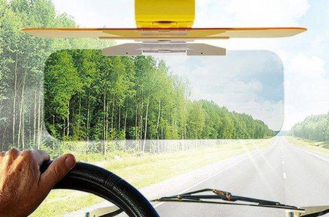 2 az 1-ben Clear View autós napellenző