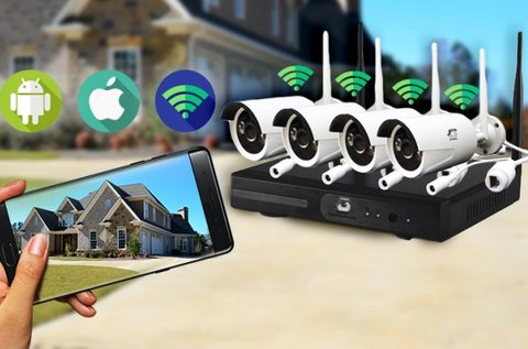 Komplett wifi IP megfigyelő kamera rendszer