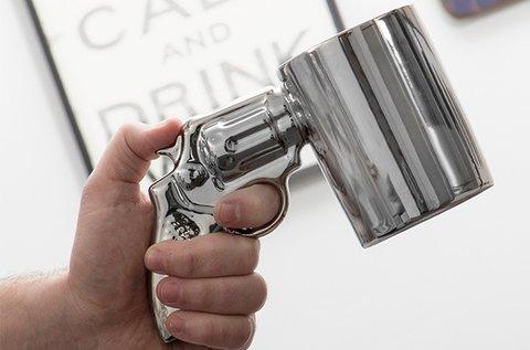 Mókás revolver bögre