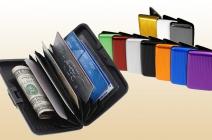 b9779e9a7c1c Tartsd biztonságban pénzed és irataid! Aluma wallet vízhatlan  alumínium-műanyag biztonsági pénztárca többféle színben (ezüst, fekete,  piros, kék, lila, ...
