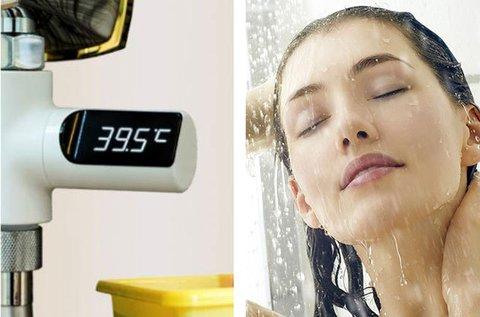Csapra szerelhető digitális hőmérő