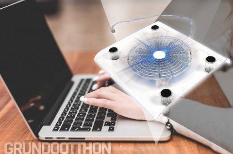 Primaxx laptop hűtő kék LED világítással