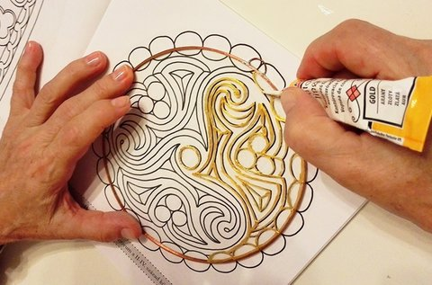3 órás üveg mandalafestő tanfolyam