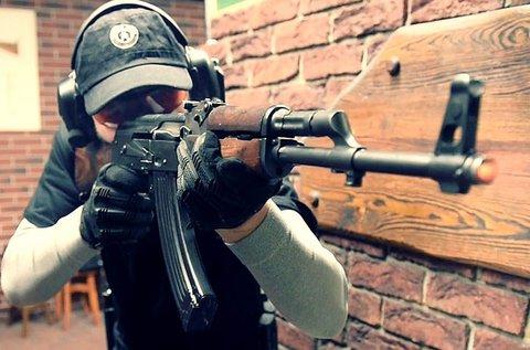 40 lövés  AK 47-tel és Dragunovval