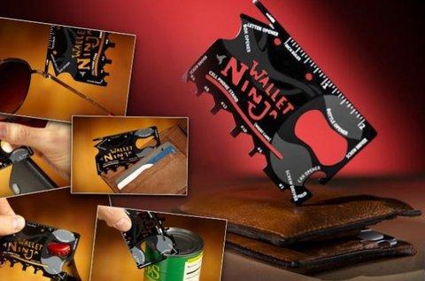 Wallet Ninja multifunkciós zsebszerszám