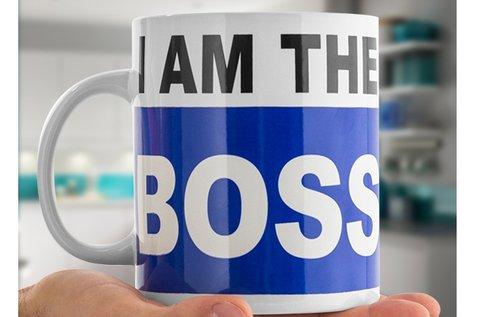 I am the Boss xl méretű csésze