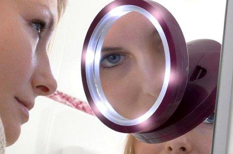 Pretty U nagyítós kozmetikai tükör LED világítással