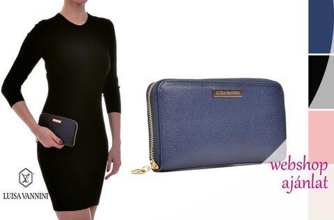 Luisa Vannini Fonte bőr pénztárca 4 színben