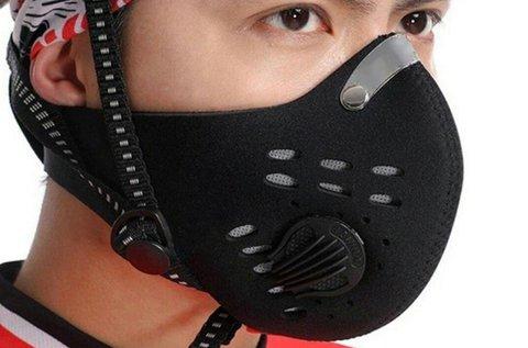 Légszűrős kerékpáros és motoros maszk