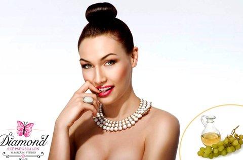 Ultrahangos arcfiatalítás szőlőmagolajos ápolással