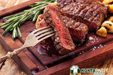New York Steak főzőkurzus italfogyasztással