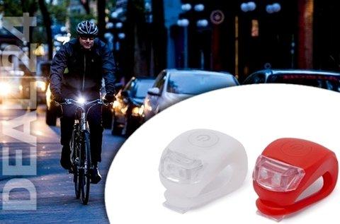 LED bicikli lámpa szett szilikon borítással