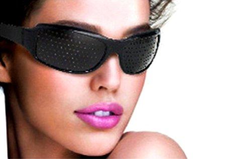 Látásjavító szemtréner szemüveg fekete színben