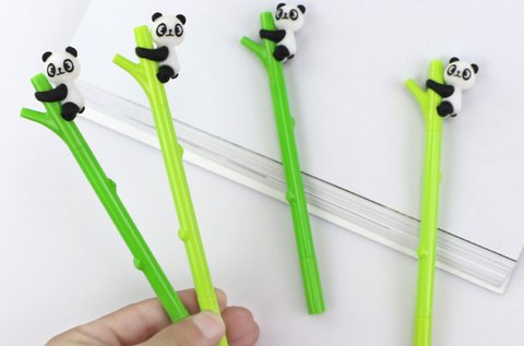 Kapaszkodó pandás bambusz formájú zselés toll