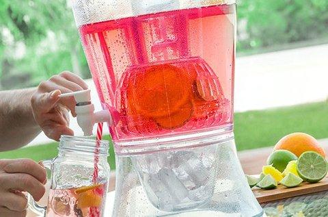 Gyümölcsszűrős, jégtartós 7,5 l-es italszervírozó