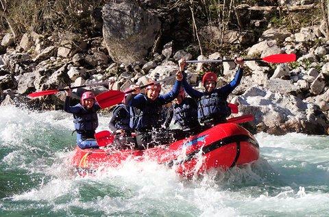 Rafting hétvége Szlovéniában, a Soca-folyón