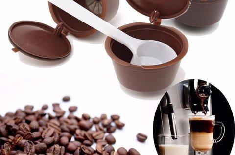 5 db, 8 g-os újratölthető kávékapszula