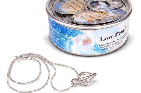 Love pearl ezüst színű gyöngykagyló nyaklánc