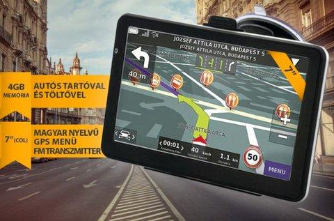 7 colos, magyar nyelvű GPS teljes Európa térképpel