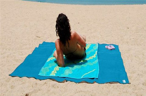 Mágikus strandlepedő kék színben