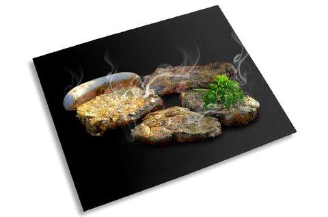 Tapadásmentes hőálló lap sütőbe, fekete színben
