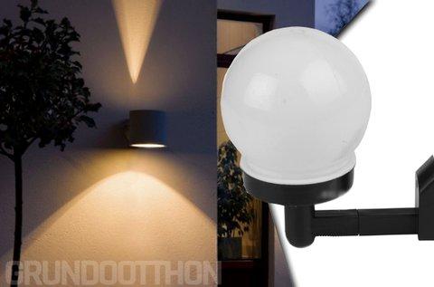 Napelemes fali lámpa hidegfehér LED fénnyel