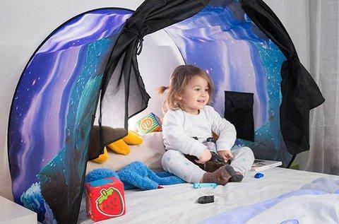 Mesevilág gyerekkuckó ágyra illeszthető sátor