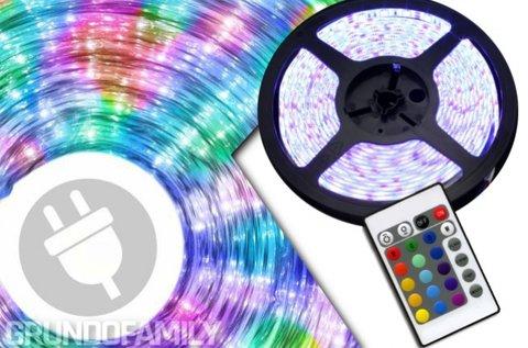 5 m-es színátmenetes RGB LED szalag szett