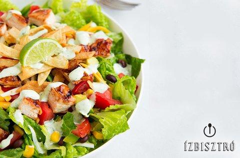 Fitness ital parmezános csirkés salátával