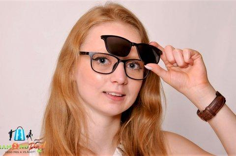Clip-On szemüvegkeret polarizált, UV400-as előtéttel