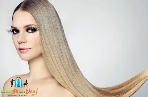 100 tincs, 50 cm hosszú haj és annak felrakása