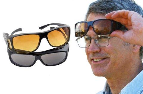2 db szemüveg éjszakai és nappali vezetéshez