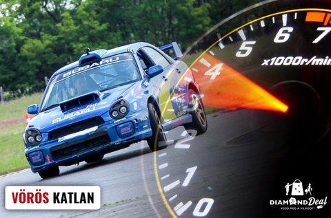 Subaru Impreza WRX STi rallyautó vezetés Nyirádon