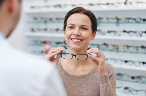 Vékonyított szemüveg látásellenőrzéssel