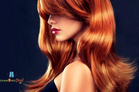 Női hajfestés hozott festékkel, vágással