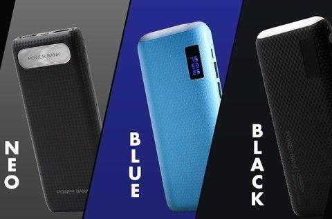 Power Bank Black, Blue vagy Platinum vésztöltő